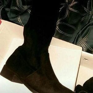 Black thigh high boots New Size 6